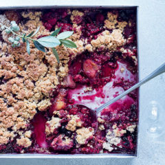 Plum-and-berry crumble