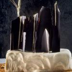 Tahini semifreddo with golden chocolate shards and sesame brittle recipe