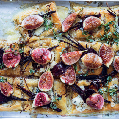 Tear-and-share fig-and-beetroot tartlets