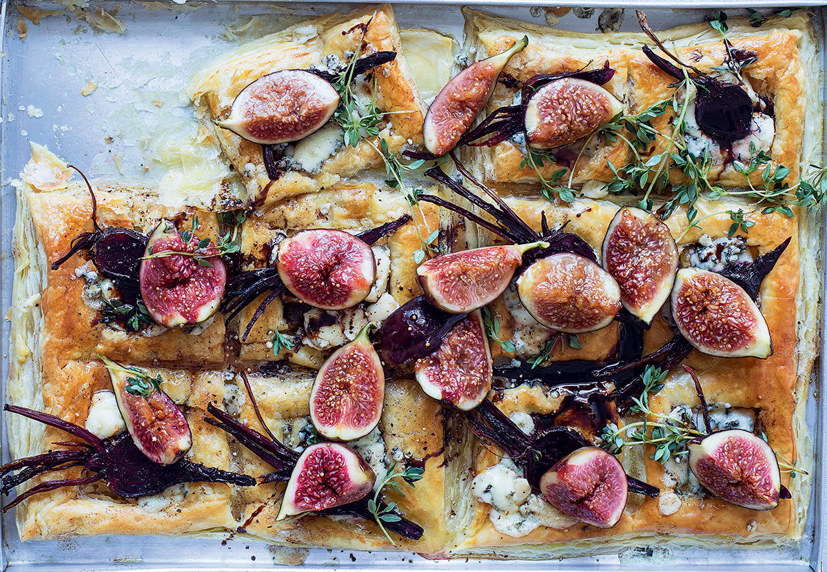 Tear-and-share fig-and-beetroot tartlets recipe