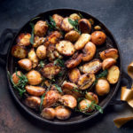 Crispy balsamic sage potatoes recipe
