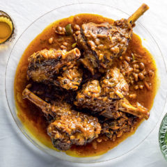 Lamb shanks with chakalaka