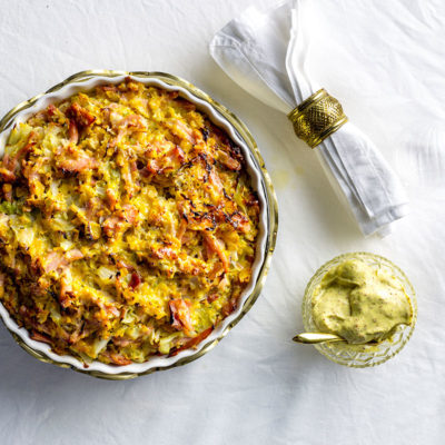 Gammon-and-cabbage pie