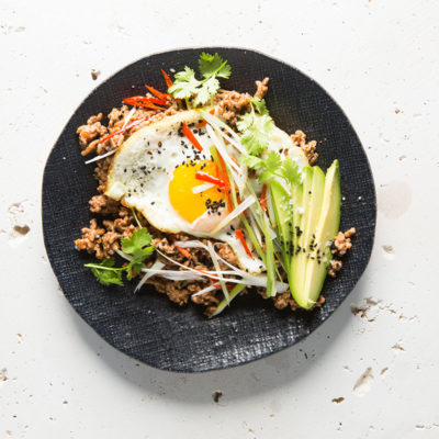 beef mince Asian mince bowl