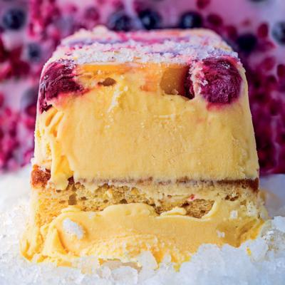 Frozen tropical Madeira cake