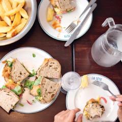 La Tête's deep-fried fish sandwich