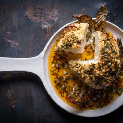 Roast cauliflower with peri peri