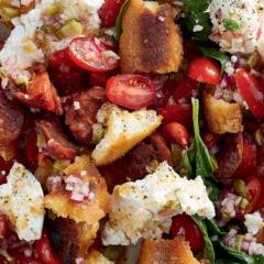 Chorizo bread salad