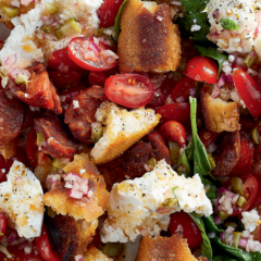 Chorizo bread salad
