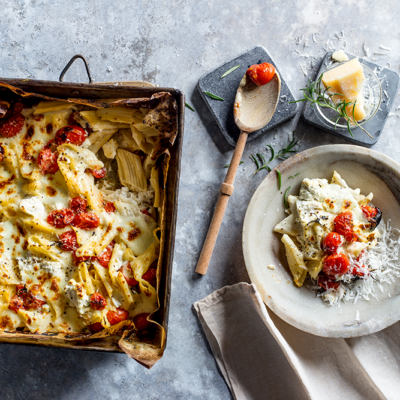 Baked tomato pasta
