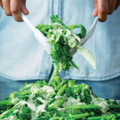Broccoli with mustard dressing
