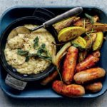 pork sausages with fennel and butter bean apple mash