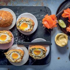 Scotch eggs, two ways