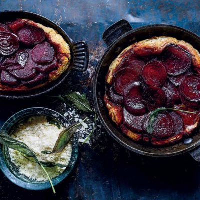 Beetroot-and-Parmesan tarte tatin