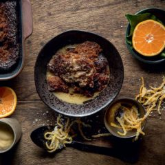Watch: citrusy Malva pudding with Irish coffee sauce