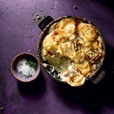Potato-and-fennel gratin