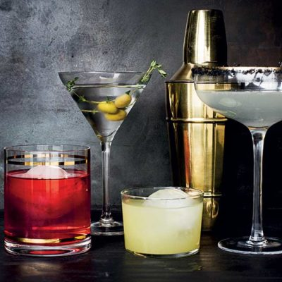The famous five cocktails (using four ingredients or less!)