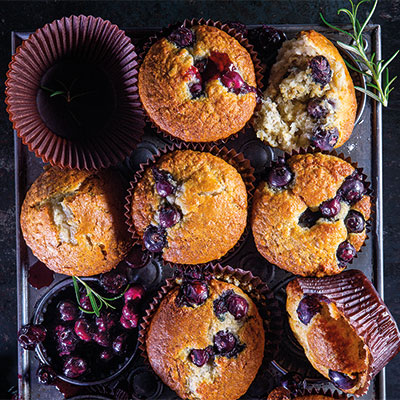 Always ready berry-and-coconut muffins