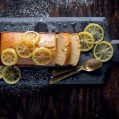 Lemon ice-cream slice cake