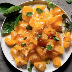 Wintry orange garlic salad