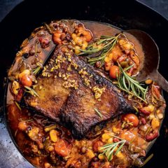 Slow-roasted brisket and smoky beans