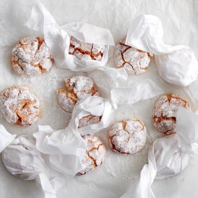 Handmade amaretti biscuits
