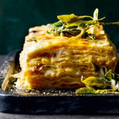Butternut-and-pancetta lasagne