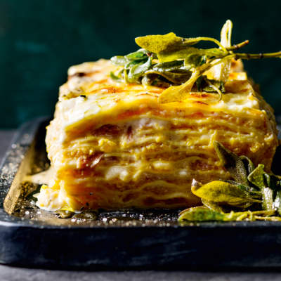 Butternut-and-pancetta lasagne