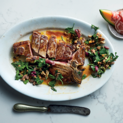 T-bone with parsley-and-walnut salad