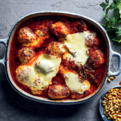 Baked chicken-and-oreganum meatballs