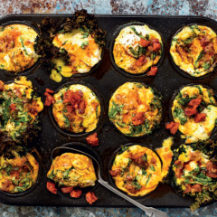 Carb-conscious kale-and-chorizo muffins