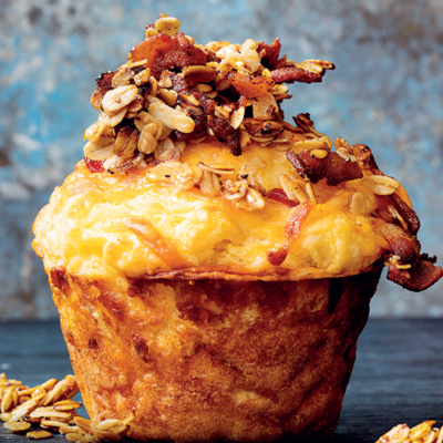 Cheese-and-bacon granola muffins