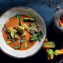 Pealaffel in korma curry