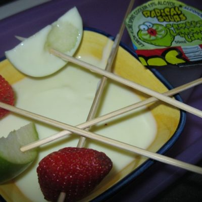 Lemon-Lime boozy fruit dip