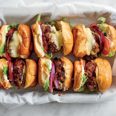 BBQ beef sliders with cheese