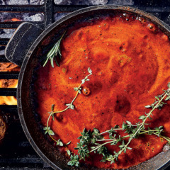 Home-made smoky BBQ marinade and basting sauce