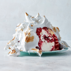Red velvet ice-cream bombe
