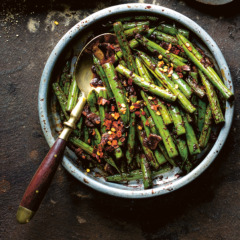 Fried garlic green beans