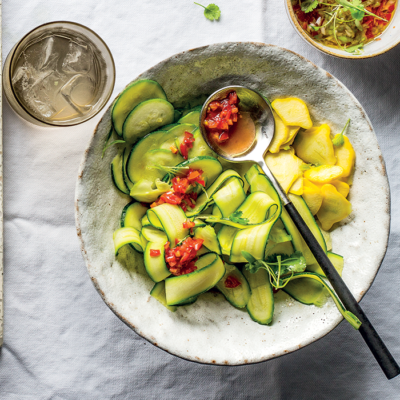 Ceviche-style summer squash