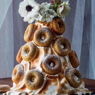 Lime-and-pistachio doughnut cakes