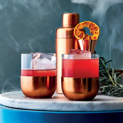 Negroni-style scorched grapefruit smoke