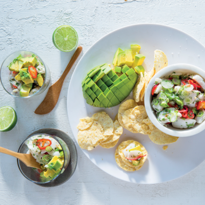 Ceviche with avocado