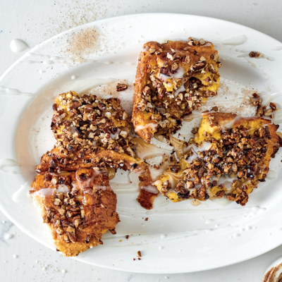 French toast with pecan chunks