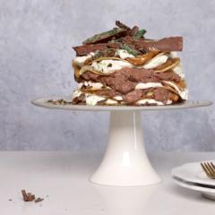 Peppermint Crisp pancake stack