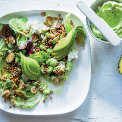 Whipped ricotta and avocado salad