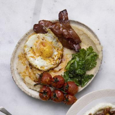 Bacon-and-egg mielie pap