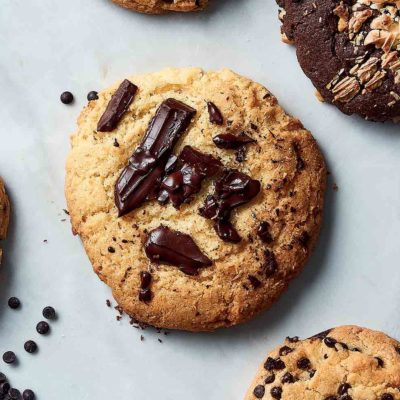 Coconut and dark choc-chip cookies