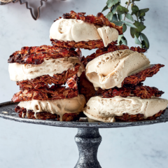 Florentine and brown butter ice-cream sandwiches