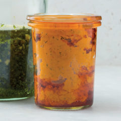 Rocket and red pepper pesto