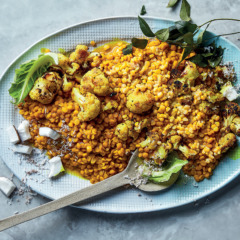 Sunshine dhal with coconut and cauliflower